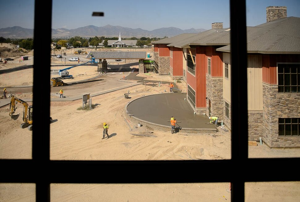 (Trent Nelson | The Salt Lake Tribune) Summit Vista under construction, Wednesday Sept. 5, 2018. Summit Vista, being built on a 105-acre parcel in Taylorsville, is Utah's first 'life plan community,' a highly social form of retirement apartment dwelling combined with a full spectrum of the types of care senior might need as they age.
