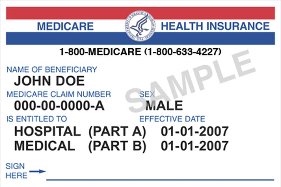 This image provided by Medicare.gov shows a generic Medicare card. The government says it's on track to meet a 2019 deadline for replacing Social Security numbers on Medicare cards with randomly generated digits and letters to protect seniors against identity theft. (Medicare.gov via AP)