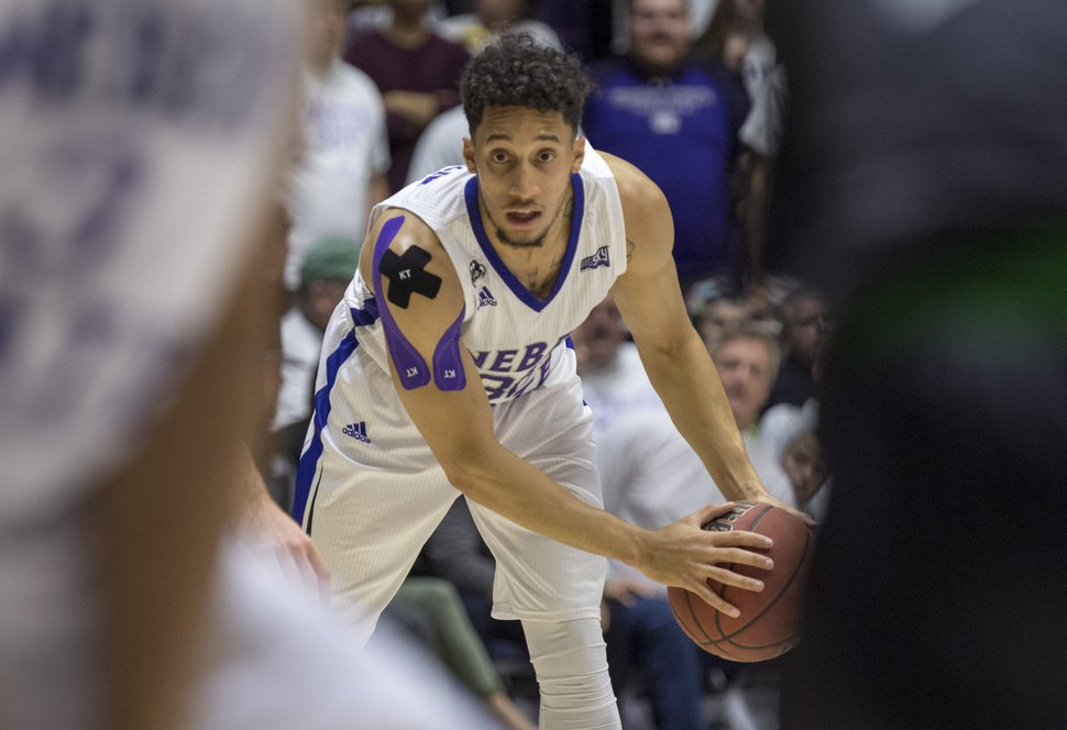 Rick Egan | The Salt Lake Tribune Weber State Wildcats guard Jeremy Senglin (30), in basketball action, Weber State Wildcats vs Utah Valley Wolverines, in Ogden, Saturday, December 17, 2016.