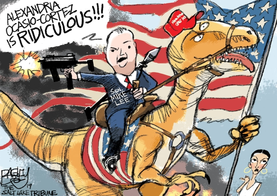 (Pat Bagley | The Salt Lake Tribune) This cartoon by Pat Bagley titled Our National Dinosaurs appears in The Salt Lake Tribune on Wednesday, March 27, 2019.