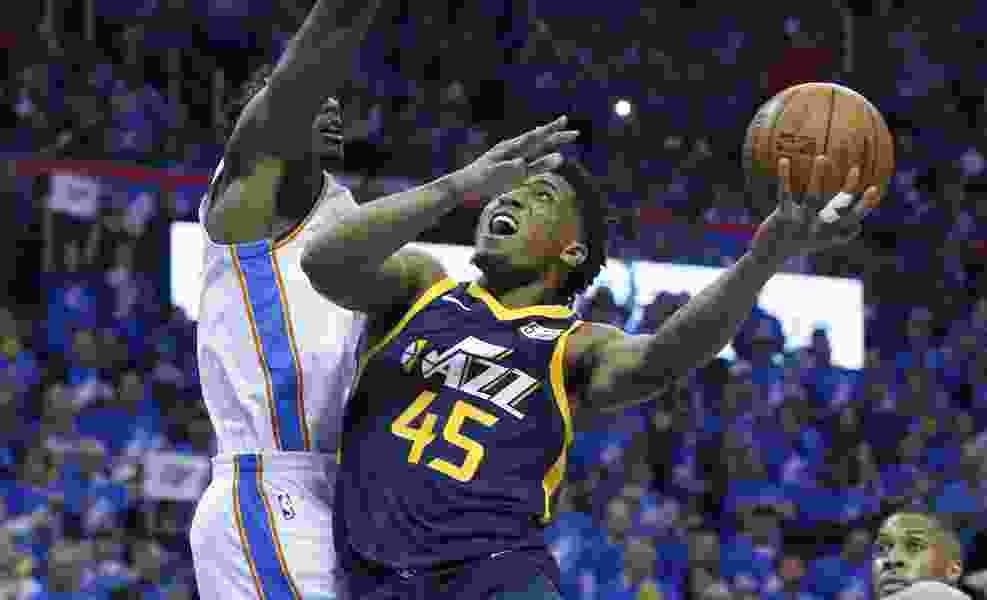 Despite loss, Donovan Mitchell shows promise, toughness in playoff debut