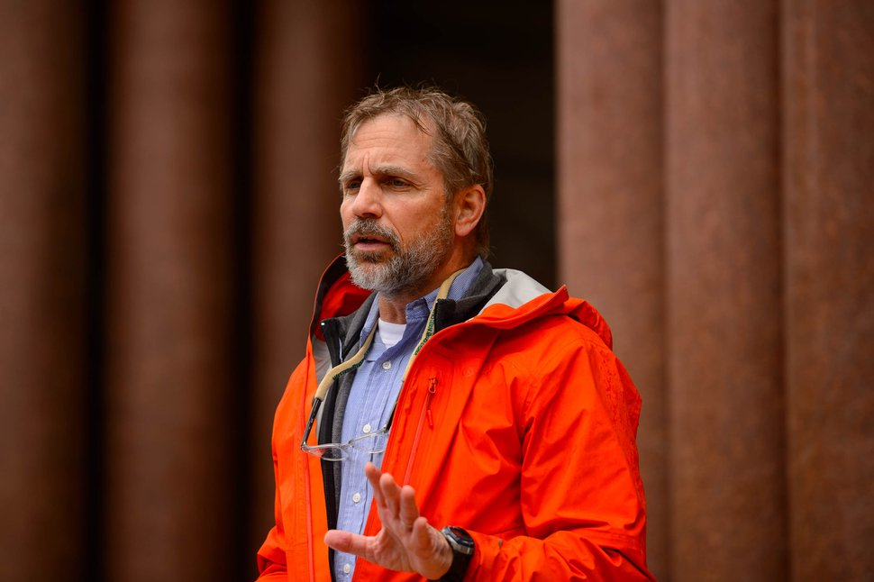 (Trent Nelson   The Salt Lake Tribune) Richard Mauro speaks at City Hall in Salt Lake City on Monday, June 8, 2020. Public defenders from across the country participated in Black Lives Matter protests, including this march hosted by the Salt Lake Legal Defender Association.