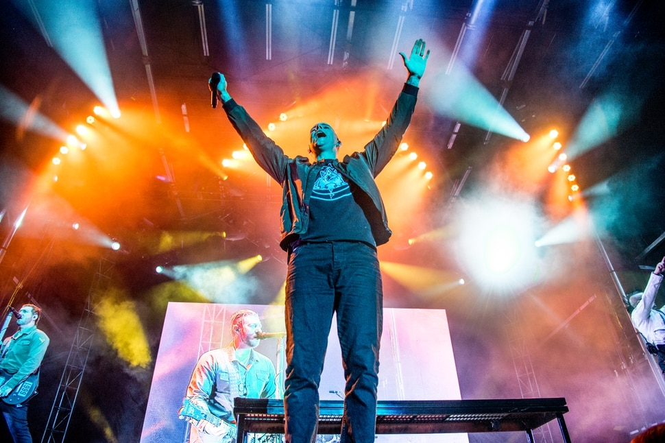 (Photo by Amy Harris/Invision/AP) Vocalist M. Shadows of Avenged Sevenfold (shown at the Louder Than Life Festival on Saturday, Oct. 1, 2016, in Louisville, Ky.) will be at USANA Amphitheatre for a headlining set on Friday, Aug. 11, 2017.