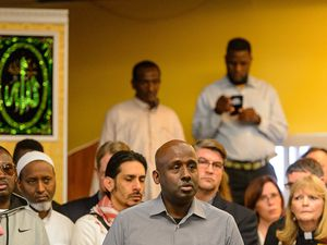 (Trent Nelson  |  Tribune file photo)  Aden Batar, migration and refugee resettlement director at Catholic Community Services, speaks at a news conference on March 10, 2017. Batar remains hopeful that Utah soon will begin accepting more refugees.