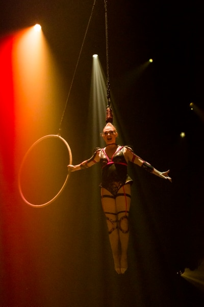 (Marie-Andrée Lemire   courtesy of Cirque du Soleil) A hair aerialist is one of the performers in Cirque du Soleil's show Bazzar, which will play in a tent in the parking lot of the Maverik Center in West Valley City, from May 24 to July 5, 2020.