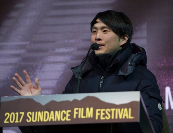 Rick Egan | The Salt Lake Tribune Director Justin Chon receives the Audience Award: NEXT for his film ÒGook,Ó at the 2017 Sundance Film FestivalÕs Awards Ceremony, Saturday, January 28, 2017.