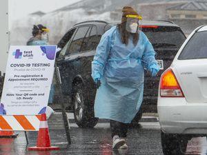(Rick Egan |  Tribune file photo) Nurses test for Covid-19 at the Test Utah site in Herriman, on Friday, Feb. 5, 2021.
