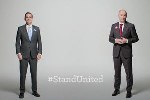 (Screengrab from PSA) Utah's major party candidates for governor —Republican Spencer Cox and Democrat Chris Peterson — released three public service announcements on Tuesday, Oct. 20, 2020 to encourage the public to accept the results, regardless of the outcome, in the presidential race.