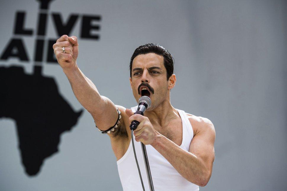 (Alex Bailey | courtesy Twentieth Century Fox) Rami Malek plays Queen frontman Freddie Mercury in a scene from