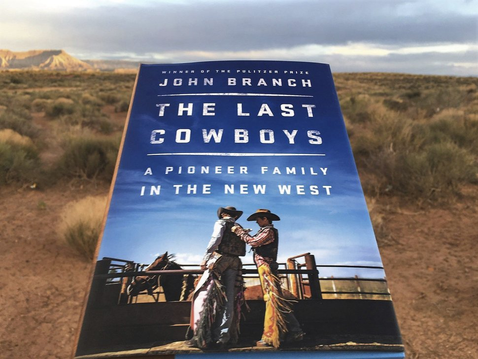 This undated photo shows John Branch's new book