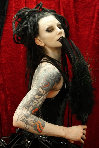 (Photo courtesy of Jeff Carlisle) Cinamon Hadley, an influential figure in Salt Lake City's goth scene and the visual inspiration for the character Death of the Endless, from DC Comics' The Sandman, died Jan. 6, 2018.