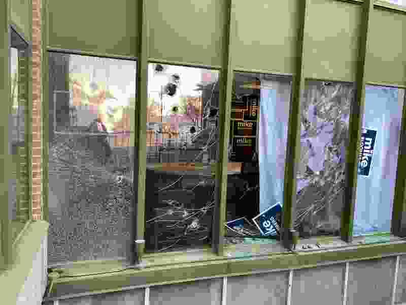 Vandals break windows at Mike Bloomberg's Utah campaign office