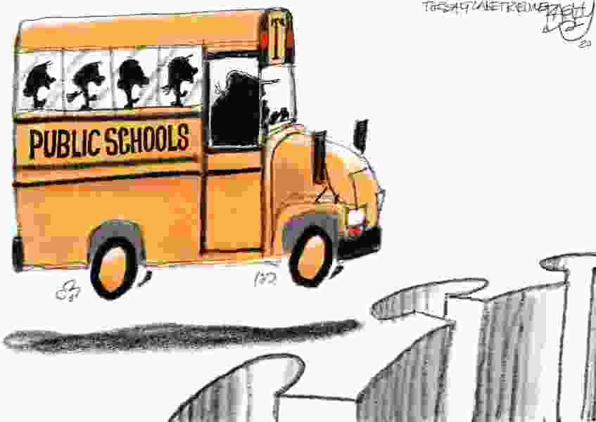 Bagley Cartoon: Schooled by COVID