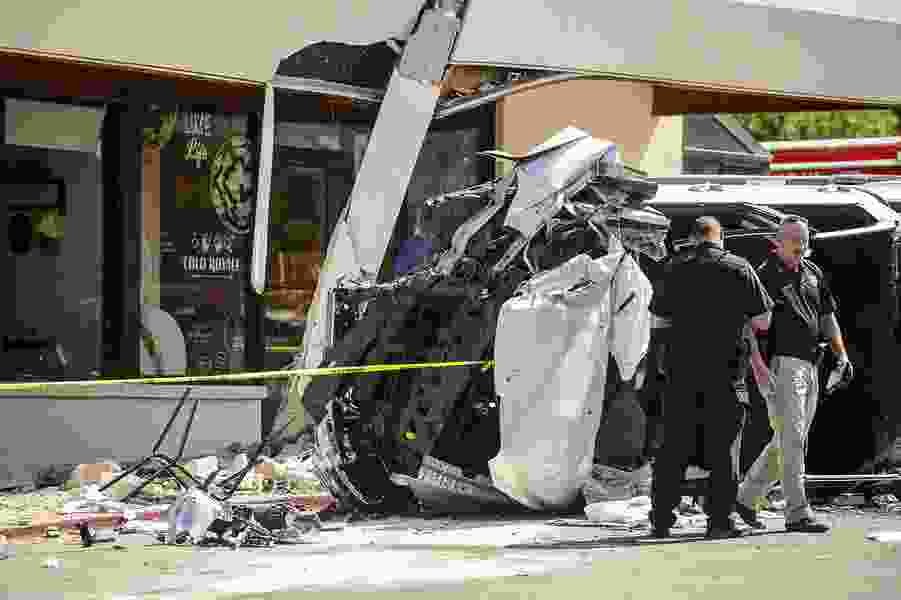 Salt Lake County investigators reveal a sixth person was injured when a truck slammed into a Starbucks. Days later, he's still unconscious.