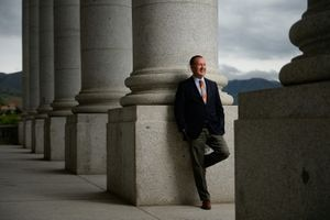 (Francisco Kjolseth  |  The Salt Lake Tribune)  Utah State Auditor John Dougall, pictured at the Utah Capitol, Thursday, May 23, 2019. Dougall is one of several Utah Republicans who has criticized President Donald Trump in the days since a group of pro-Trump supporters stormed the U.S. Capitol.