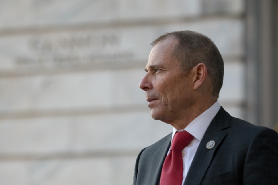 (Noel St. John | Special to the Tribune) John Curtis stands outside the Cannon House Office Building in Washington, D.C., before being sworn into the United States Congress on Monday, Nov. 13, 2017.