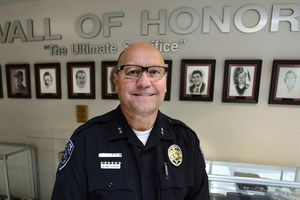 (Steve Griffin  |  The Salt Lake Tribune) UPD Deputy Chief Shane Hudson at the Sherrif's Office Building on Wednesday, Feb. 28, 2018. Hudson will be retiring soon and wants to become a high school teacher.