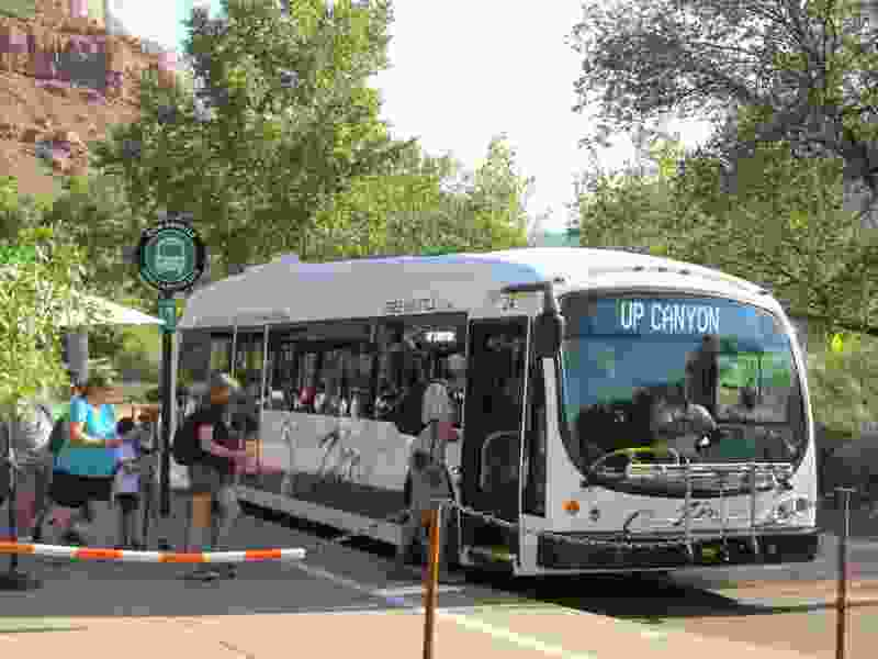 Utah's Zion National Park testing electric buses to cut down on noise, pollution in crowded park