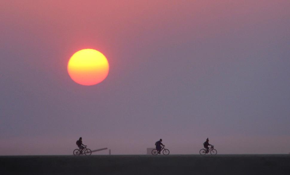 (Rick Egan | The Salt Lake Tribune) The sun rises over the Black Rock Desert during the Burning Man Festival, Friday, September 1, 2017.