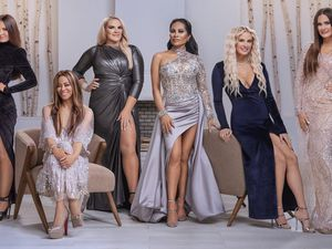 "(Photo courtesy of Chad Kirkland/Bravo) Lisa Barlow, Mary Cosby, Heather Gay, Jen Shah, Whitney Rose and Meredith Marks are ""The Real Housewives of Salt Lake City."""