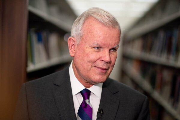 (Trent Nelson | The Salt Lake Tribune) Church Historian and Recorder Steven Snow at a news conference regarding the LDS Church publishing the first volume of new history,