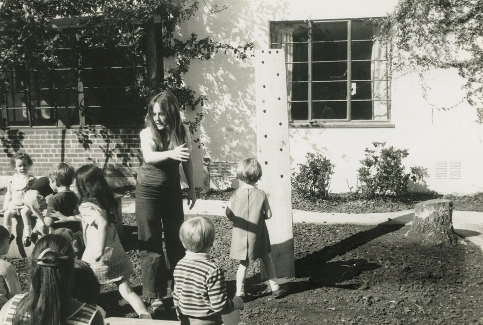 In this 1969 photo provided by Alice Waters, Waters appears as a Montessori school teacher in Berkeley, Calif. Waters' journey from a childhood of 1950s convenience cooking to the pinnacle of American cuisine is the subject of her new memoir,