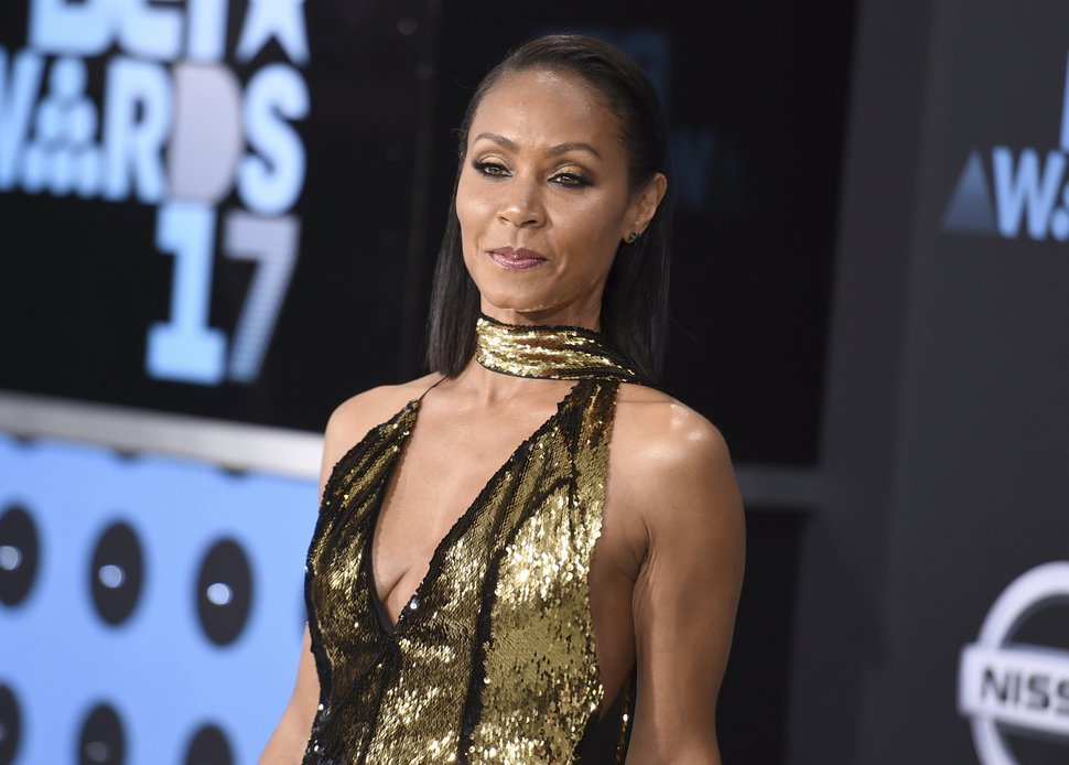 In this June 25, 2017, file photo, Jada Pinkett Smith arrives at the BET Awards at the Microsoft Theater in Los Angeles. (Photo by Richard Shotwell/Invision/AP, File)
