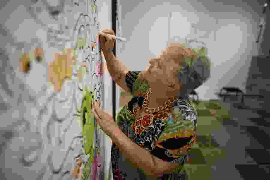Provo exhibit allows visitors to color on the art