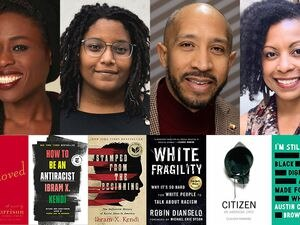 (Courtesy photos) Nkenna Onwuzuruoha and Charnell Peters, facilitators for YWCA Utah's Woke Words program; James Jackson III, founder of the Utah Black Chamber; and University of Utah assistant professor of English Crystal Rudds, shown with books they recommend for learning about racism.