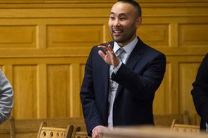 (Rick Egan     The Salt Lake Tribune)  Councilman Darin Mano, seen in this file photo, was appointed by the City Council to fill a vacancy left by Mayor Erin Mendenhall in 2020. While campaigning to hold on to his District 5 seat over the weekend, Mano received an expletive-filled email from an assistant attorney general.