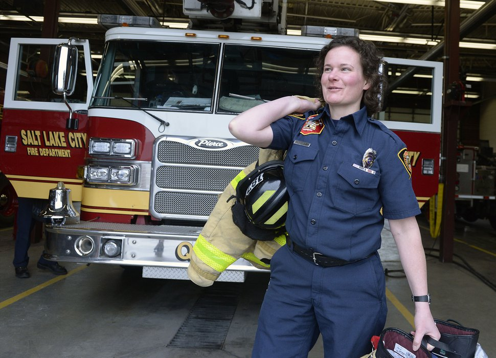 (Al Hartmann | The Salt Lake Tribune) Susanna Alley works for the Salt Lake City Fire Department . The department is trying to recruit in minority communities so it can hire a more diverse crew.