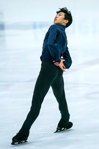 (Chris Detrick | The Salt Lake Tribune) Nathan Chen competes in the Men's Free Skate during the U.S. International Figure Skating Classic at the Salt Lake City Sports Complex Friday, September 15, 2017.