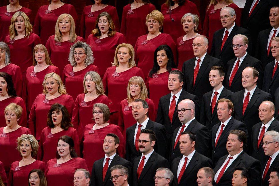 (Trent Nelson | The Salt Lake Tribune) The Tabernacle Choir at Temple Square during the morning session of the 189th Annual General Conference of The Church of Jesus Christ of Latter-day Saints in Salt Lake City on Sunday, April 7, 2019.
