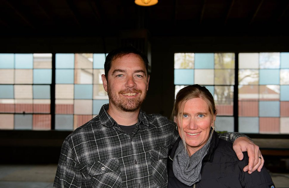 (Trent Nelson | The Salt Lake Tribune) After 18 years at Red Rock Brewing, Kevin Templin, left, is going out on his own, opening T.F. Brewing with his wife, Britt, his father and several investors — including parents on his son's hockey team.