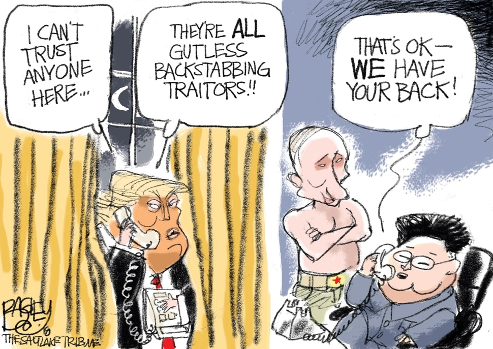This Pat Bagley cartoon appears in The Salt Lake Tribune on Friday, Sept. 7, 2018.