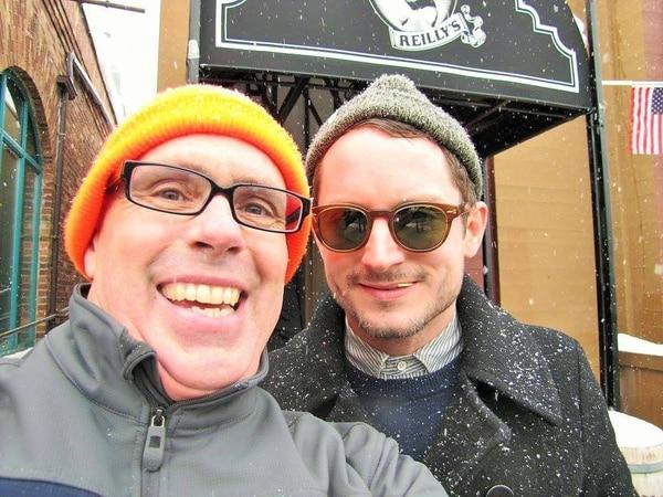 (Courtesy Stuart Graves) Stuart Graves with Elijah Wood.