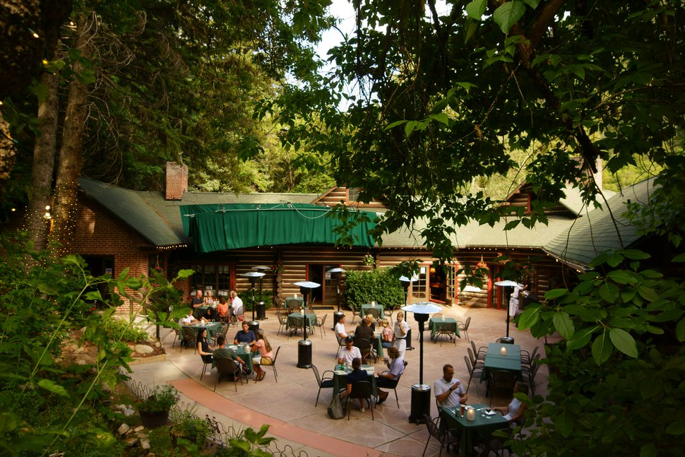 (Photo courtesy of Log Haven) The patio at Log Haven in Mill Creek Canyon.