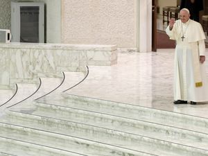 (AP Photo/Andrew Medichini) FILE - Pope Francis arrives for his weekly general audience in the Pope Paul VI hall at the Vatican, Wednesday, Oct. 14, 2020. Commentary: Even with the best prognosis, age is catching up to Pope Francis. Barring a miracle, he will only be expected to continue as pope for five or six years. We may look back at his hospitalization as the moment that marked the beginning of the end of his papacy.