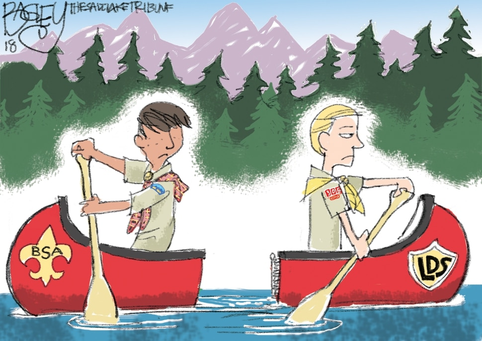 This Pat Bagley cartoon appears in The Salt Lake Tribune on Thursday, May 10, 2018.