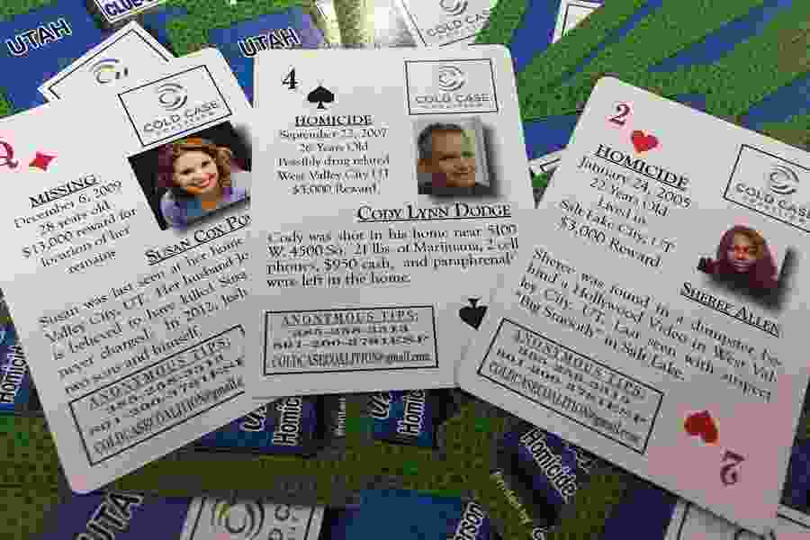 Utah Cold Case Coalition hopes playing cards may lead to tips in unsolved homicide and missing-persons cases