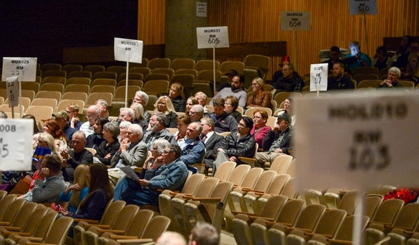 (Leah Hogsten | The Salt Lake Tribune) At Cottonwood High School's GOP caucuses, a combined 35 caucuses met to elect precinct officers, who help govern the parties, plus delegates to state and county conventions, Tuesday, March 20, 2018.