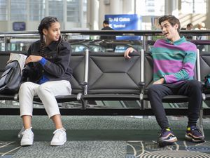 """(Fred Hayes   Disney) Former """"Andi Mack"""" costars Sofia Wylie and Asher Angel reunite on """"High School Musical: The Musical: The Series."""""""