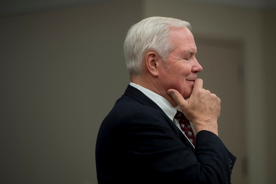 (Jeremy Harmon | The Salt Lake Tribune) Roger Hoole, who represents former members of the FLDS church, smiles as he is asked a question during a UEP hearing in Salt Lake City on Tuesday, June 18, 2019.