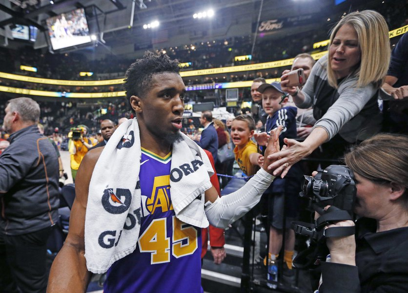 80bc80a3032 Don't look now, but the Jazz's Donovan Mitchell may have just turned the  corner on his second NBA season