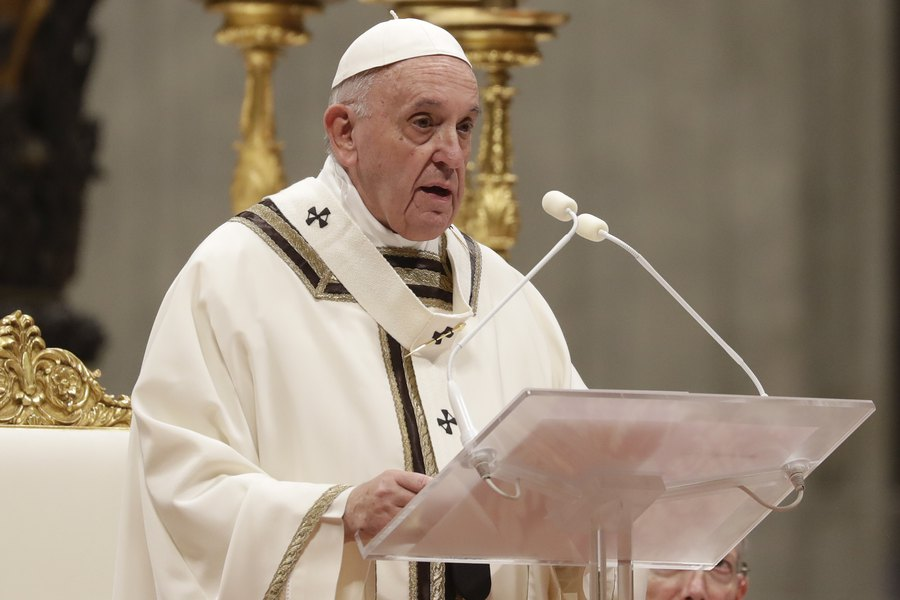 pope francis talking about Christianity and peace