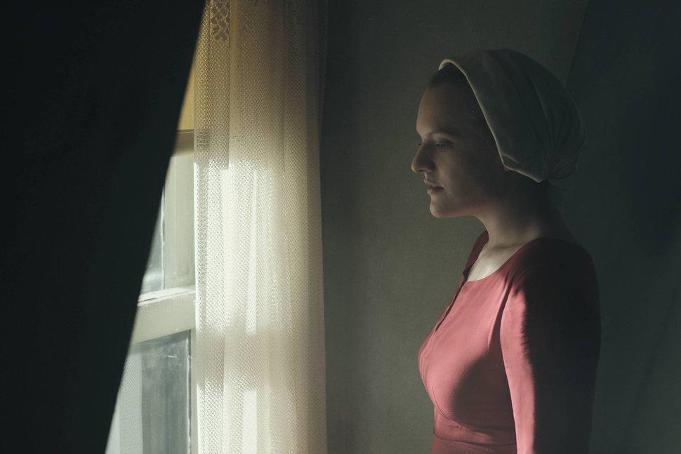 George Kraychyk | Courtesy of Hulu Elisabeth Moss stars in ÒThe Handmaid's Tale.Ó