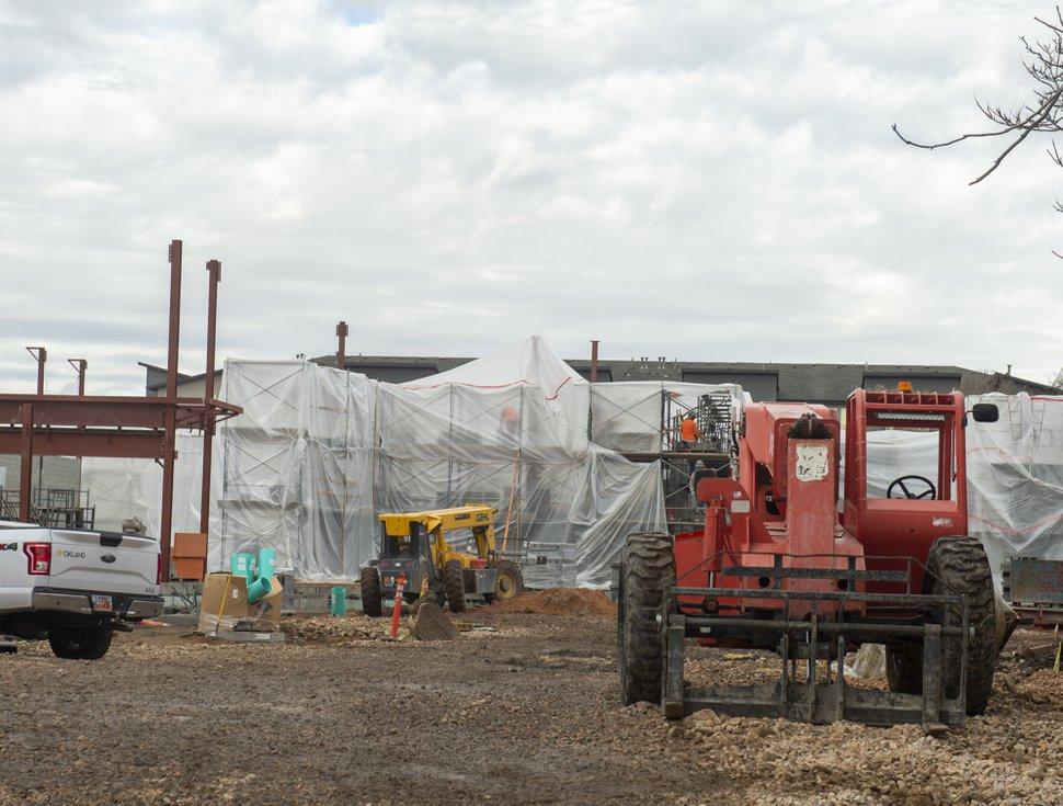(Rick Egan | The Salt Lake Tribune) The homeless shelter under construction on Paramount Ave, in Salt Lake City. Friday, Dec. 21, 2018.
