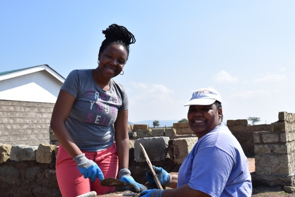 (photo courtesy CHG Healthcare Services) CHG employees are seen during a trip to Kenya where they did a variety of service projects.