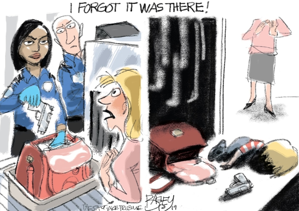 (Pat Bagley | The Salt Lake Tribune) This cartoon, titled Well Regulated Militia, appears in The Salt Lake Tribune on Saturday, Oct. 12, 2019.