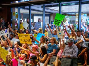 (Trent Nelson     The Salt Lake Tribune) People fill the room as the Salt Lake County Council voted down Dr. Angela Dunn's mask ordinance for K-6 students, on Thursday, Aug. 12, 2021. Would today's division keep the country from uniting if another challenge like 9-11 came upon us?